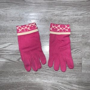 Brand New Hot Pink Coach Gloves